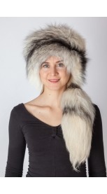 Shadow frost fur hat with tail